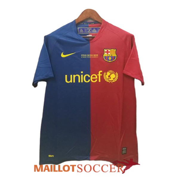 maillot barcelone retro champions league bleu rouge 2008 2009