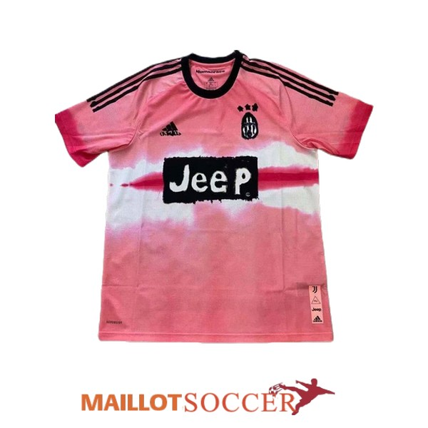 maillot juventus edition speciale humanrace rose blanc 2020 2021