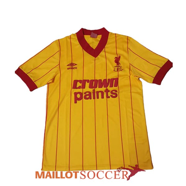 maillot liverpool retro champions league jaune 1981 1984