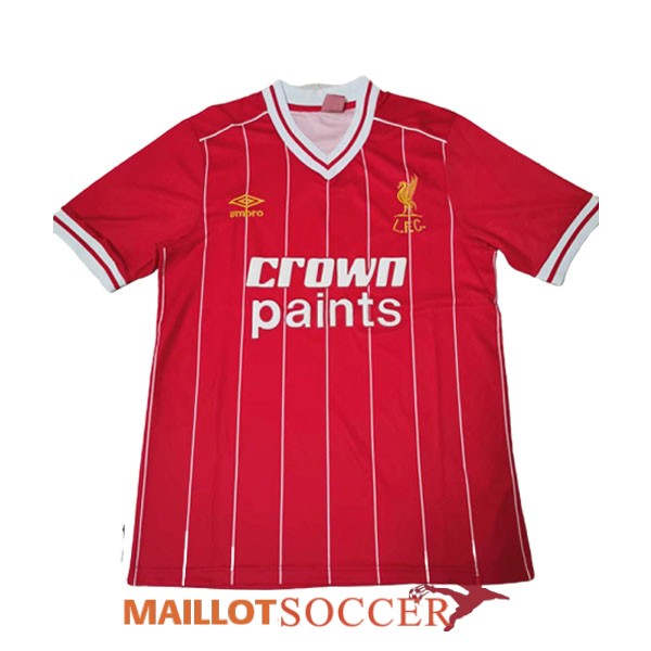maillot liverpool retro champions league rouge 1981 1984