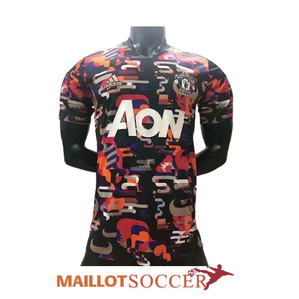 maillot manchester united entrainement version joueur camouflage rouge orange blanc 2021 2022 [maillots21-3-25-170]