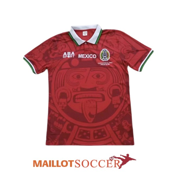 maillot mexique retro edition speciale rouge 1998