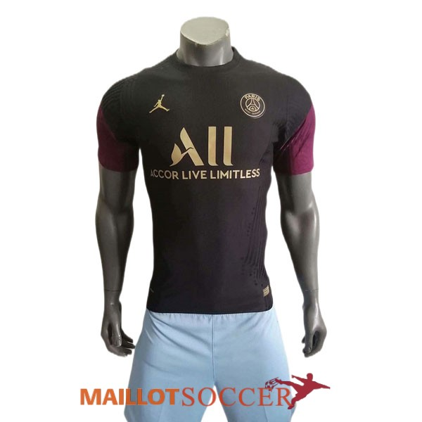 maillot paris saint germain edition speciale version joueur jordan noir violet 2021 2022