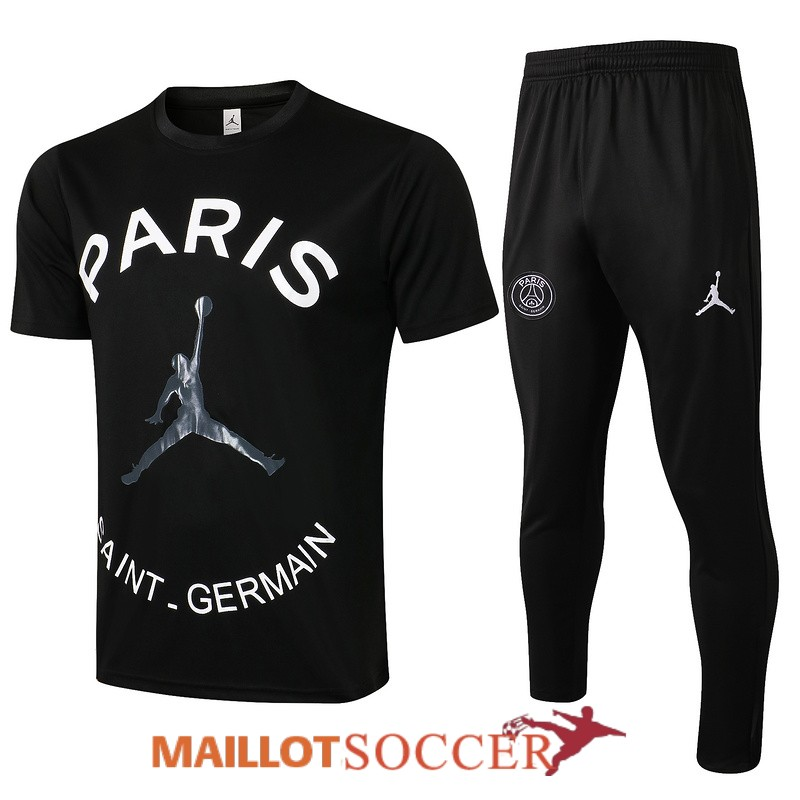 maillot paris saint germain entrainement ensemble complet paris noir gris 2021 2022