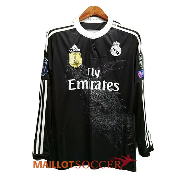 maillot real madrid retro manche longue third 2014 2015