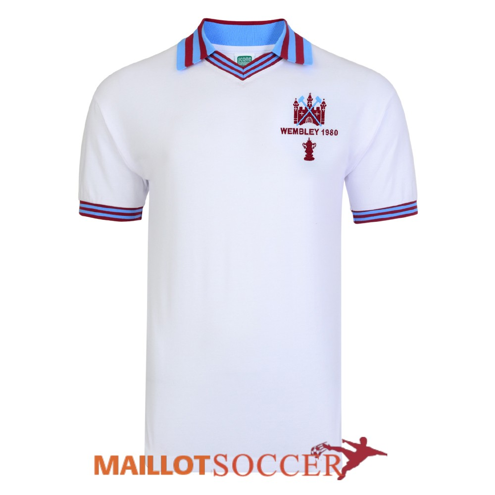 maillot west ham united retro champions league blanc 1980