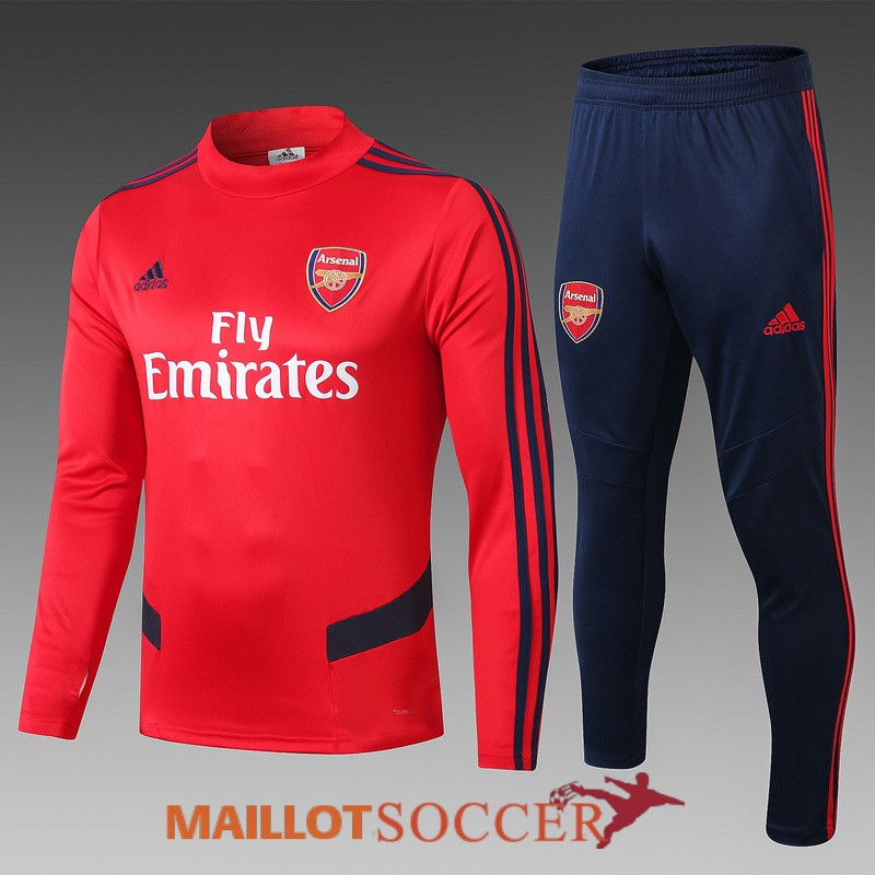 survetement arsenal col haut rouge 2019 2020