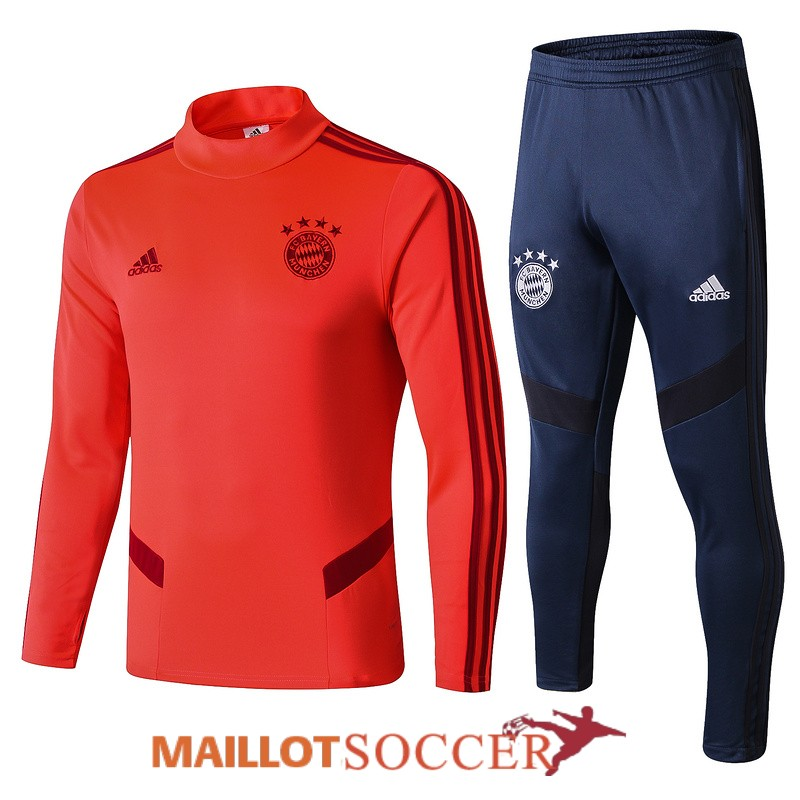 survetement bayern munich col haut orange 2019 2020