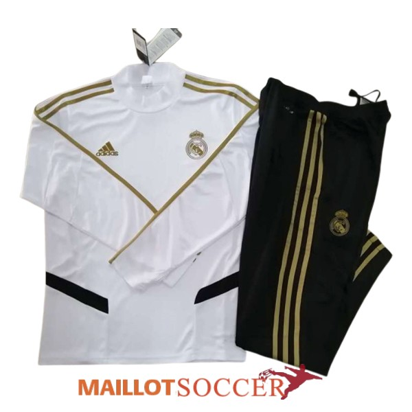 survetement real madrid col haut blanc 2019 2020